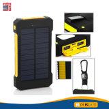 Nouvelle arrivée RoHS étanche portable 10000mAh deux ports USB Chargeur solaire de téléphone mobile Banque d'alimentation