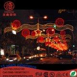 Напольный свет рождества СИД освещения СИД через украшение улицы света мотива звезды улицы