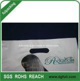 Mango troqueladas de plástico personalizada bolsa de regalo, la mano Polybags promocionales
