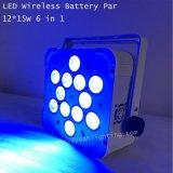 lumière rechargeable UV de PARITÉ de 12PCS 15W RGBWA DEL