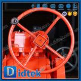 Vávula de bola asentada metal del muñón del acero de molde del fabricante de Didtek China