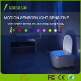 センサーLEDの洗面所ライトUSBの再充電可能な便器ライトIP65はPIRの動きセンサーLED夜ライトを防水する