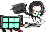 Allgemeinhin anpassungsfähiges DC12V LED 6 Schalter-Panel-elektronisches Transitsystem mit Kreisläuf-Steuerkasten - Verkabelungs-Verdrahtungs-Installationssatz für irgendein Fahrzeug