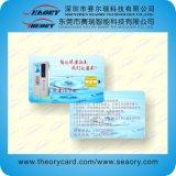 Carte en plastique de PVC d'IDENTIFICATION RF de fréquence ultra-haute d'à haute fréquence de LF avec la piste magnétique