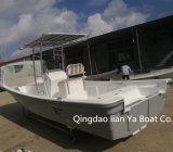 Vente de bateaux de pêche de fibre de verre de constructeur de bateau de Panga de Liya 7.6meter