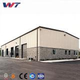 Stahlkonstruktion-Lager-Baustahl-Träger fabrizierte Werkstatt-Stahlmetalhalle-Zelle-Gebäude vor