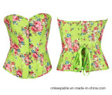 As mulheres bonitas Corpo Floral Shaper Shaper Espartilho Overbust cintura