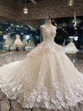 Vestido de casamento luxuoso do laço de Aoliweiya