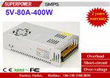 Alimentazione elettrica di commutazione del driver 5V 80A 400W del LED riservata alla stampante 3D