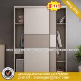 白いプラスチック寝室の金属の方法Foldableワードローブ(HX-8ND9631.1)