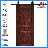 Puerta de madera Pocket roja moderna