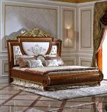 손으로 새겨진 0038의 가져오기 너도밤나무 단단한 나무는 침대를 유행에 따라 디자인 한다