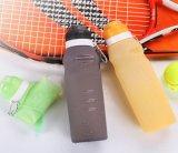 Bouteille compressible d'activités extérieures de course de bicyclette de silicones sensibles à la chaleur