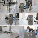 Pneumatische Glas-Metallschutzkappen-mit einer Kappe bedeckende Maschine für Kosmetik (YL-P)
