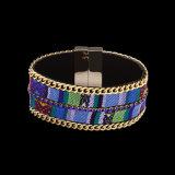 Bijou multicolore de mode de bracelet de femmes d'alliage de Bohème de type
