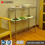 Блок Shelving шкафа хранения еды кухни провода металла крома свободно обязанности полки положения 3 светлой профессиональный