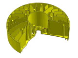 Molde de moldeado a presión de alta presión por parte del disipador de calor