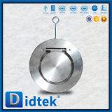 Servicio de larga duración Didtek única placa Wafer Válvula de retención de giro
