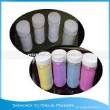 광색성 안료 또는 색깔은 UV 빛 또는 햇빛 안료 분말에 의하여 변화했다