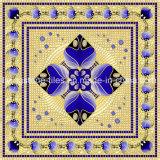 Azulejo cristalino musulmán azul marino del rompecabezas de la porcelana para el sitio del rezo