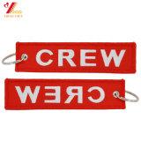 飛行キーホルダーの荷物の札の引きによって編まれる刺繍Keychain (YB-e-028)前に除去しなさい