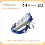 Beweglicher Mehrkanalthermometer-Lieferant (AT4208)