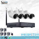 Wdm Wireless WiFi NVR P2P 4CH 1080P Caméra IP CCTV