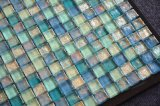Tamaño 25x25x14 Precios en Egipto Cocina mosaico de azulejos de vidrio de colores mezclados