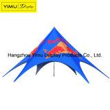 Kundenspezifisches Firmenzeichen-Doppelt-Spitzen-Stern-Zelt mit rückseitiger Wand