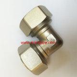 Ajustage de précision en laiton nickelé de bonne qualité de compactage de 90 degrés de Cw617n