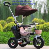 Triciclo de niños del triciclo del bebé del modelo nuevo para la venta con el pabellón