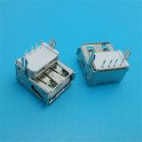 プラスチックコア逆90度USB 2.0タイプコネクター