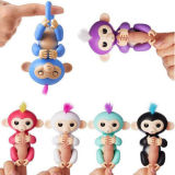 Пурпуровая обезьяна младенца Fingerlings для игрушки подарка