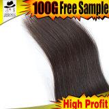 Prix de gros dans 10A le cheveu droit brésilien, 100%Unprocessed