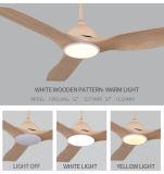 Ventilateur extérieur rond de meilleur des prix 3 plafond promotionnel de lames avec la lumière