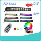 Singola barra chiara fuori strada della strada LED di RGB Bluetooth 7D 120W SUV di riga