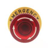 16mm 2no2nc 작은 비상 정지 단추 스위치 세트 (button+plate)