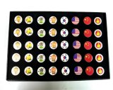 El regalo de moda de la etiqueta de plástico del golf fijó con el zodiaco chino para el amante del golf