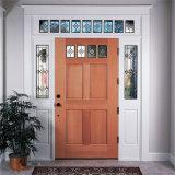 Modèles d'entrée principale avec le prix en bois solide de porte