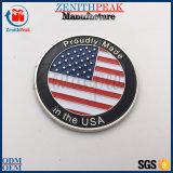 Douane 3mm van de fabriek het Muntstuk van de Uitdaging van de Vlag van de V.S. van de Dikte