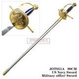 Spada Commanding noi spada 90cm Jot051A degli ufficiali militari della spada del blu marino