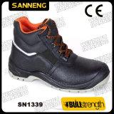 Het midden sneed de Klassieke Schoenen van de Veiligheid met Ce- Certificaat (SN1206)