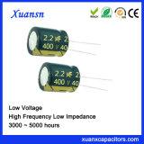 400V de Elektrolytische Condensator van de Hoge Frequentie van de Hoogspanning 2.2UF