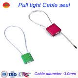 A alta segurança aperta o tipo selos ajustáveis do cabo do metal de selo do recipiente da liga de alumínio