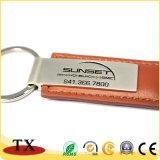 Zink-Metallschlüsselkette und PU-lederner Schlüsselring mit kundenspezifischem Firmenzeichen