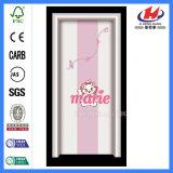 Dobragem de plástico de PVC interior da porta de madeira