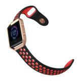 O desporto de Silicone Bracelete Pulseira trança de banda Fitbit Blaze, Vermelho/Preto, Grande