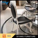Table à manger en acier inoxydable moderne Set Table ronde en marbre