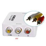 Mini-HD 1080P videokonverter-Kasten HDMI Video zum RCA-AV/Cvsb L/R für Kameraden HDTV-PCvcr-NTSC
