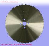 Fiable Calidad Cermet frío con punta de hoja de sierra circular de 250 X 2,0 X 1,7 X 32 X 72t para la barra de acero de corte.